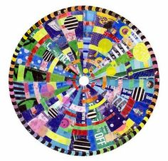 Recycled Mandalas | Junkculture  Artist Virginia Fleck uses plastic bags to create beautiful colorful mandalas. - See more at: http://www.junk-culture.com/2011/07/recycled-mandalas.html#sthash.sUacanoH.dpuf