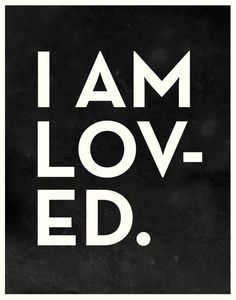 I AM LOVED 11x14 children's art black and white by confettielove, $20.00