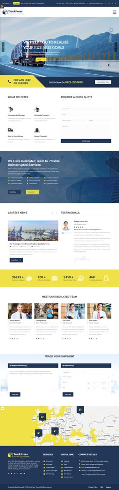 TruckPress - Logistics, Warehouse & Transportation Business WordPress Theme Download #cargo #smallbiz #website