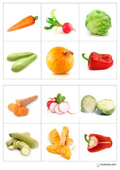 loto1 Fruit And Veg, Fruits And Vegetables, Preschool Worksheets, Preschool Activities, Colors For Toddlers, Kindergarten Projects, Games For Kids, Teaching Kids, Education
