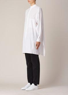 Y's by Yohji Yamamoto Big Shirt Dress (White)