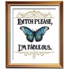 I'm Fabulous cross stitch pattern