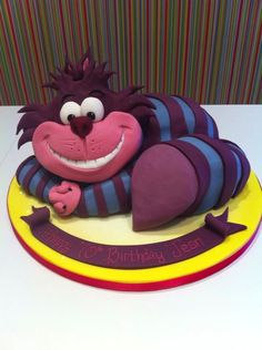 Cheshire Cat Cake, Alice in Wonderland
