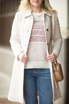 Petite Fashion and style | J. Crew Fair Isle Crewneck Sweater | Click to Read More...