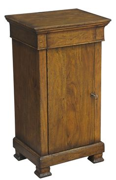 Transitional Style Nightstand Made From Solid Walnut Fruitwood Finish Free Ship