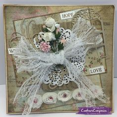 Sara's signature shabby chic collection Crafters Companion  6x6 card