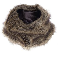 Faux Fur Snood (35 BAM) ❤ liked on Polyvore featuring accessories, scarves, brown, faux fur shawl, fake fur scarves, faux fur scarves, snood scarves and brown shawl