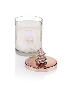 Winter Scented Copper Lidded Filled Candle   M&S