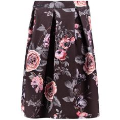 Boohoo Marin Dark Floral Box Pleat Midi Skirt ($18) ❤ liked on Polyvore featuring skirts, circle skirt, maxi skirt, midi circle skirt, purple midi skirt and midi skirt
