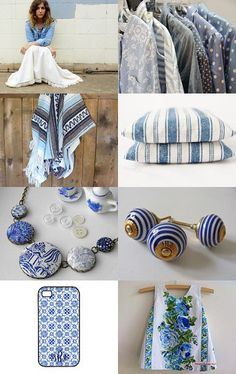 blue and white etsy treasury