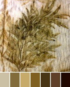 grevillea leaves on silk notjustnat creative blog