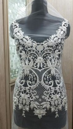 Hand Beaded and Embroidered WEDDING DRESS Bodice In Over 50 Styles - CAMILLA