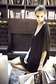 JESSICA CHOAY Casual Dress . Photographer Vera Colombo . Model Iliana Chernakova . Location Hotel Milano Scala, Milan