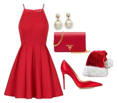 """Its beginning to look a lot like christmas"" by xvintageglamourx ❤ liked on Polyvore featuring Chi Chi, Gianvito Rossi and Prada"