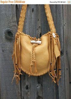 ON SALE Handmade leather  handbag   Buckskin by thunderrose