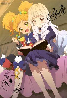 Nikaido Yuzu and Shirogane Lily Yume, Anime Stars, Anime Friendship, Sailor Chibi Moon, Pretty Star, Anime Character Drawing, Kirara, Anime Angel, Manga Games