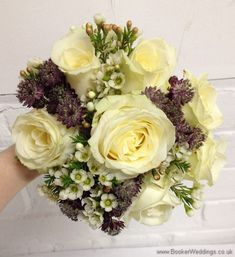 Wedding Flowers Liverpool, Merseyside, Bridal Florist, Booker Flowers and Gifts, Booker Weddings Lilac Bridesmaid, Bridesmaid Bouquets, Bride Bouquets, Cream Wedding, Rose Wedding, Wedding Flowers, Wedding Day, Wax Flowers, Cream Flowers