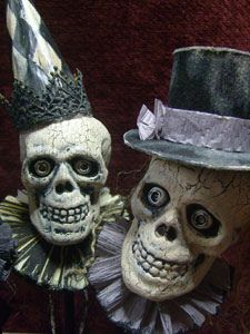 Top Hat & Party Hat Skull by Fantastical World of Holidays, via Flickr