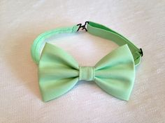 Mint Green Bow Tie by BrileyBean on Etsy