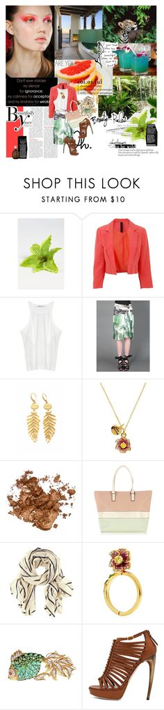 """col.or.ful"" by szandyhubr ❤ liked on Polyvore featuring Cara Accessories, WALL, Sonam Life, Gestuz, T By Alexander Wang, Dries Van Noten, Wildfox, Juicy Couture, Stila and Wallis"