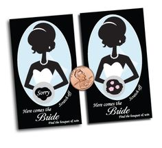 Bridal Shower Party Favor Scratch Off Game Card   eBay...cute idea for activity