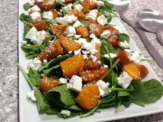 Pumpkin and Spinach Salad recipe