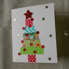"""""""Din don dan"""": i biglietti di Natale decorati con i washitape - L'Ely curiosa Christmas Mix, Techno, Advent Calendar, Snowman, Christmas Cards, Dan, Holiday Decor, Rose, Creative"""