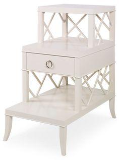 Seward Step End Table, Cream
