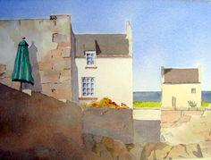 Cellardyke by Peter Robinson Landscape Paintings, Watercolor Paintings, Peter Robinson, Paintings I Love, Cool Art, My Arts, Artist, Painters, Watercolour Paintings