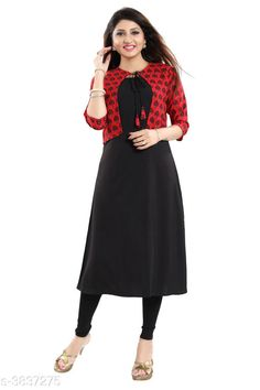 Kurtis & Kurtas ALC Creation Women Solid Crepe Kurti Fabric: Kurti -  Crepe , Jacket - Crepe Sleeve Length: Three-Quarter Sleeves Work / Pattern: Kurti - Solid , Jacket - Printed Combo of: Single Sizes: Kurti - XS - 34in, S - 36in, M - 38 in, L - 40 in, XL - 42 in, XXL - 44 in , Jacket -  XS - 34in, S - 36in, M - 38 in, L - 40 in, XL - 42 in, XXL - 44 in Sizes Available: XS, S, M, L, XL, XXL *Proof of Safe Delivery! Click to know on Safety Standards of Delivery Partners- https://ltl.sh/y_nZrAV3  Catalog Rating: ★4.1 (11759)  Catalog Name: ALC Creation Women Solid Crepe Kurtis CatalogID_538850 C74-SC1001 Code: 144-3837275-