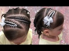 Peinado para bebes trenzas con cinta/ trenzas niñas pequeñas con cintas - YouTube Bobby Pins, Girl Fashion, Braids, Hair Color, Hair Accessories, Hairstyle, Earrings, Beauty, Youtube