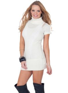Short Sleeve Loose Knit Fitted Turtleneck Sweater Mini Dress Winter Top S M L Hot from Hollywood,http://www.amazon.com/dp/B00A707TD4/ref=cm_sw_r_pi_dp_pa8bsb1K1QGTCXJV