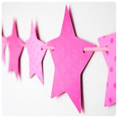 Pink Star Paper Bunting