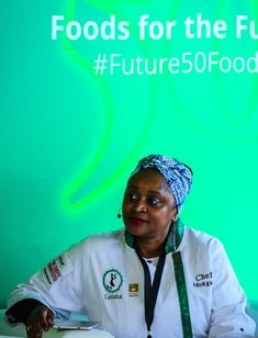 One of the panelists at the event was Mokgadi Itsweng, chef, writer and food stylist. Sustainable Food, 50th, Writer, Foods, Dinner, Future, Food Food, Dining, Food Items