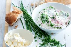 Pomazánka z ricotty a brynzy | Apetitonline.cz Ricotta, Potato Salad, Grains, Potatoes, Cooking, Ethnic Recipes, Food, Spreads, Fitness
