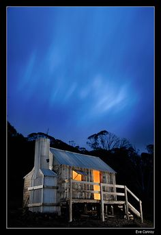 Silver Brumby Hut, Mt Hotham. Built for the film.