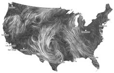 Killer.    Live Wind Map Shows Flow Patterns  http://flowingdata.com/2012/03/28/live-wind-map-shows-flow-patterns/