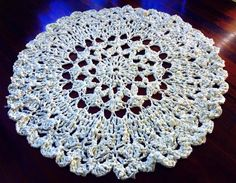 Crochet rag rug. Made from 4 single bed sheets. Measures 143cm diameter. No pattern this is from my head.  https://m.facebook.com/MammasCrochet