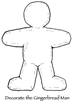 Decorate your own gingerbread man print out