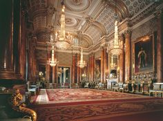 The Blue Drawing Room at Buckingham Palace - The tour of the state rooms is magnificent.