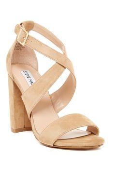 9ef45a5dbf1 Steve Madden Caliopi Block Heel Sandals Ankle Wrap Sandals