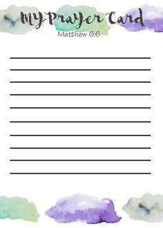 My Prayer Card Printable List Templates Printables