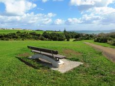 Fabulous view from Macleans Park in Auckland New Zealand. It is a great place to walk with your dog.