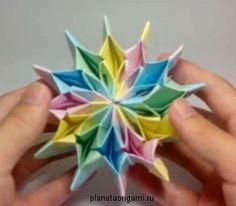 Соскучились по новым схемам модульного оригами? Сегодня мы будем учиться собирать оригами фейерверк по схеме Ями Ямаучи.