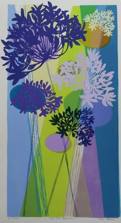 Woodblock Monoprints « Tessa Pearson Lino Prints, Painting Flowers, Flower Art, Silhouettes, Printmaking, Wave, Artists, Inspiration, Biblical Inspiration