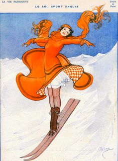 Gorgeous December 1922 illustration for La Vie Parisienne by Zajac (and now I am off into my day! queue on! xoxo)