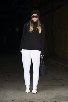 A sharp white and black contrast made these basic silhouettes much more attention-grabbing
