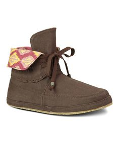 Look at this Dark Brown Soulshine Sally Boot - Women by Sanuk Sanuk Shoes, Comfy Shoes, Sally, Wedge Sandals, Dark Brown, Baby Shoes, Booty, My Style, Kids