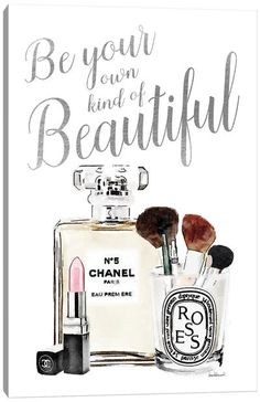 Chanel Wall Art, Canvas Prints & Paintings   iCanvas Makeup Canvas Wall Art, Silber Make-up, Canvas Art Prints, Wall Canvas, Canvas Artwork, Images Noêl Vintages, Chanel Wall Art, Chanel Canvas, Chanel Wallpapers