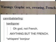 The person who spoke FRENCH.